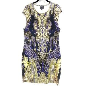 McQ Alexander McQueen Snake Print Bodycon Dress
